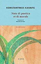 Note de poetica et de morale
