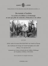 Du terrain à l'archive: Les archives de folklore et d'ethnologie en tant que pôles de recherche, d'éducation et de culture