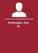 Altsitzoglou Ann. M.
